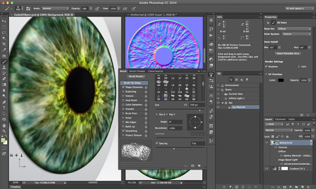 3D Painting Photoshop CC 2014