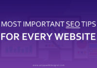 Most Important SEO Tips For Every Website