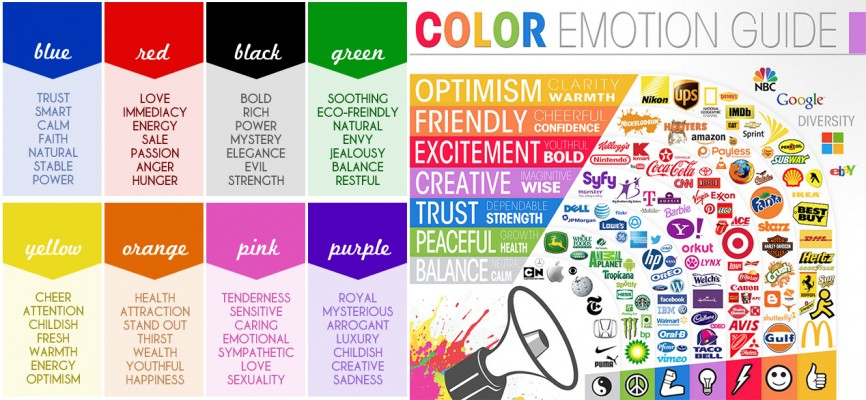Learn how to use colors in designs to call emotions for Feelings and colours