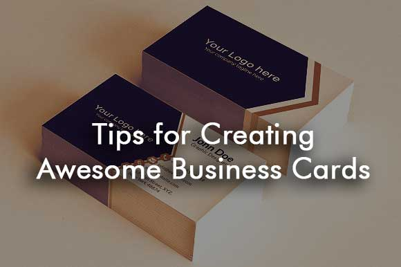 Tips for Creating Awesome Business Cards Sanjay Web Designer