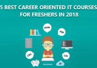Career Oriented IT Courses For Fresher In 2018