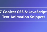 CSS & JavaScript Text Animation Snippets