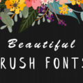 15 Beautiful Brush Fonts For Graphic Designer In 2018
