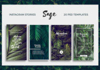 10 Amazing Instagram Stories PSD Templates Download