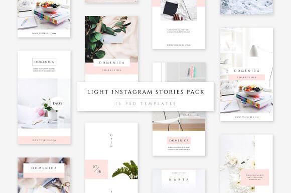 10 Amazing Instagram Stories PSD Templates Download