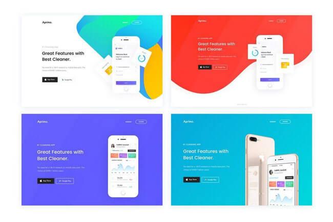 15 Clean & Minimal Design Landing Page Templates