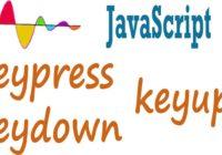 Javascript KeyUP